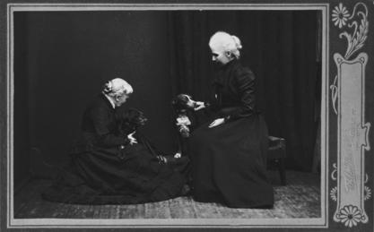 Elizabeth Blackwell and her adopted daughter Kitty, ca. 1905