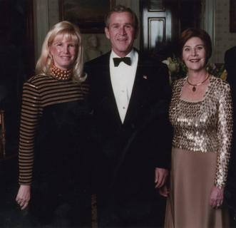Susan J. Blumenthal with George W. Bush and Laura Bush