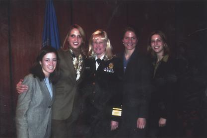 Susan J. Blumenthal with former interns, training next generation of women doctors and leaders in public health