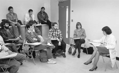 Rita Charon teaching students at Columbia University College of Physicians and Surgeons, 1983