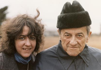Rita Charon with her father, Dr. George Charon, 1983