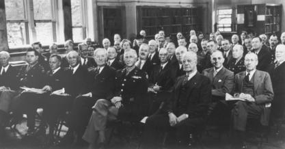 Margaret Craighill (third row center) with Honorary Consultants to the Army Medical Library, 1944