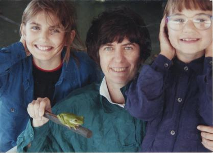 Ruth Dayhoff and her daughters Margaret and Eleanor on a family vacation in Australia, 1994