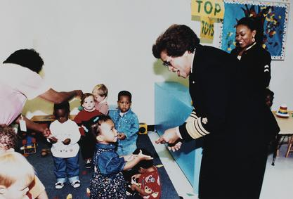 Surgeon General Joycelyn Elders at a daycare center 1994