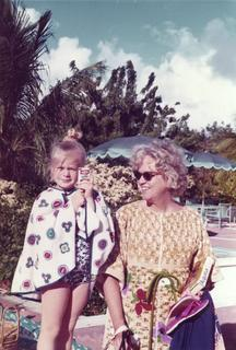 M. Irené Ferrer with her granddaughter Christiana, 1970s