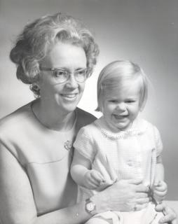 M. Irené Ferrer with her two year old granddaughter Christiana, 1970