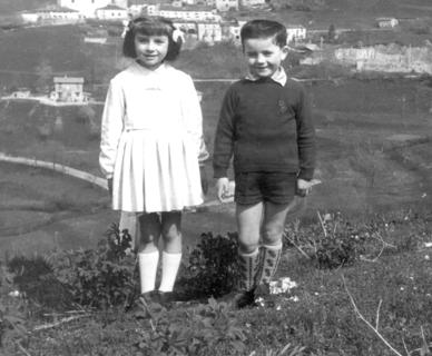 Nunzia B. Giuse at age 6 with her brother Roberto Bettinsoli, ca. 1963