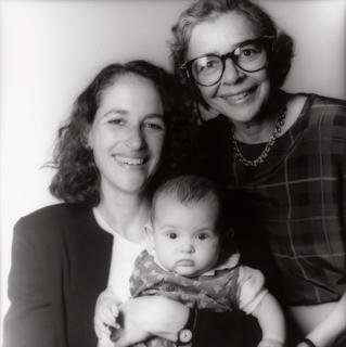 Margaret Hamburg with her daughter and her mother, Beatrix Hamburg, M.D., 1993