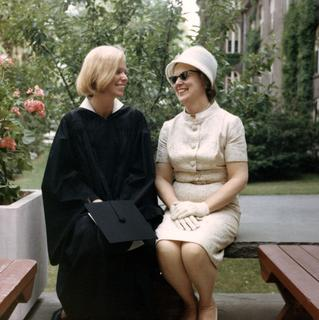 Bernadine Healy at her Harvard Medical School graduation with her mother, 1970