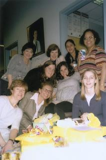 Maria Herran with the Rainbow Center for International Child Health team, 2000