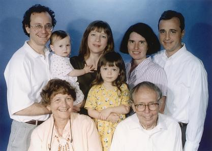 Lissy Jarvik and her family, 1998