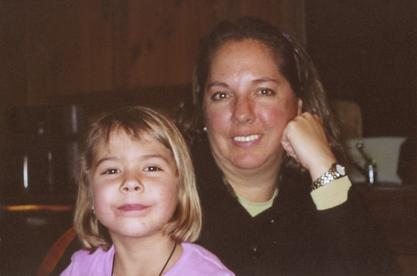Susan Karol with her daughter, Laura Stinson, 2003