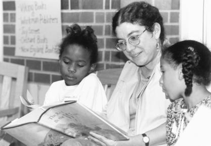 Perri Klass reading to children, 1990s