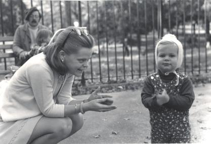 Marianne J. Legato and her daughter Christiana, 1972
