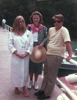 Marianne J. Legato with her daughter Christiana and her son Justin in Paris, 1985