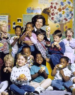 Surgeon General Antonia Novello at a day-care center, ca. 1990