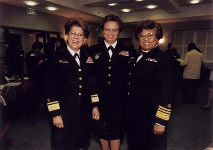 Antonia Novello (left) with Deputy Surgeon General Audrey Forbes Manley and Surgeon General Joycelyn Elders, 1998