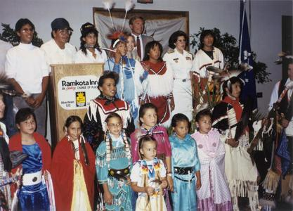 Antonia Novello with members of the Dakota Nation, 1991