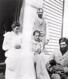 Susan La Flesche Picotte, her sister Marguerite and their husbands, brothers Charles and Henry Picotte, early 1900s