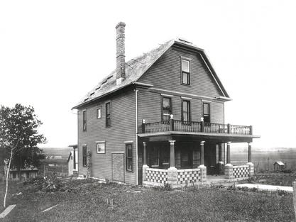 Susan La Flesche Picotte's house in Walthill, Omaha Reservation, in Nebraska, early 1900s