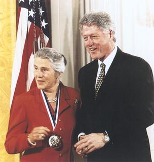 Janet D. Rowley with President Bill Clinton, 1999