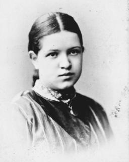 Florence Sabin as a young girl, ca. 1880