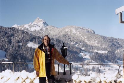 Edyth Schoenrich on vacation at the Matterhorn in Switzerland, 1990s