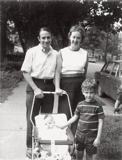 Marianne Schuelein with her husband Ralph Kraus and their sons Peter and Steven, 1971