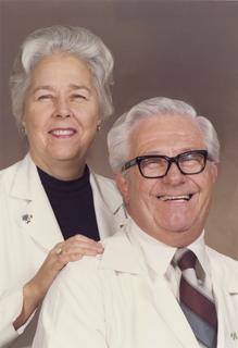 Marjorie Sirridge with her husband William Sirridge, M.D., ca. 1980