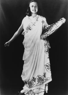 Caroline Bedell Thomas in fancy dress, ca. 1920