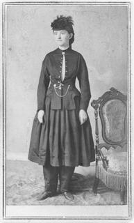 Mary Edwards Walker in Bloomer dress, 1860s