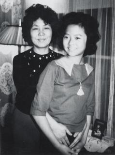 Rebekah Wang-Cheng with her mother, 1964