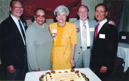 Jane C. Wright at the New York Medical College class of 1945 reunion, ca. 1995