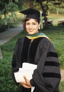 Michelle Bholat at her graduation from the University of California, Irvine College of Medicine, 1992
