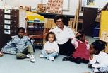 Surgeon General Joycelyn Elders at a daycare center, 1994