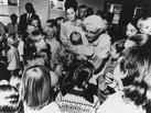 Helen Taussig with children at a South African clinic, 1970